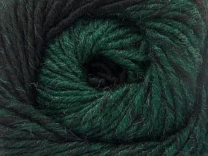 Fiber Content 75% Premium Acrylic, 25% Wool, Brand ICE, Dark Green, Black, Yarn Thickness 4 Medium  Worsted, Afghan, Aran, fnt2-61025
