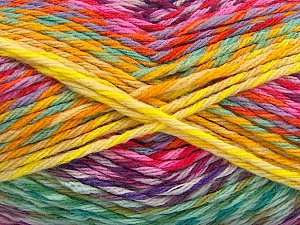 Fiber Content 100% Premium Acrylic, Yellow, Purple, Pink, Brand ICE, Green, Yarn Thickness 4 Medium  Worsted, Afghan, Aran, fnt2-61114
