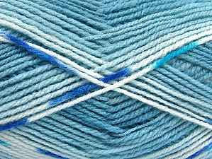 Fiber Content 100% Baby Acrylic, Brand ICE, Blue Shades, Yarn Thickness 2 Fine  Sport, Baby, fnt2-61134