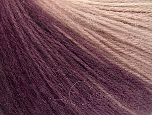 Fiber Content 60% Acrylic, 20% Wool, 20% Angora, Purple Shades, Brand ICE, Grey Shades, Cream, Yarn Thickness 2 Fine  Sport, Baby, fnt2-61197