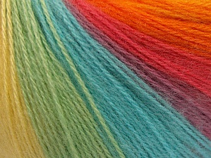 Fiber Content 60% Acrylic, 20% Wool, 20% Angora, Yellow, Turquoise, Salmon, Orange, Lilac, Brand ICE, Green, Yarn Thickness 2 Fine  Sport, Baby, fnt2-61209