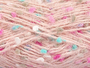 Fiber Content 50% Polyamide, 40% Premium Acrylic, 10% Polyester, White, Turquoise, Light Pink, Brand ICE, Fuchsia, Yarn Thickness 4 Medium  Worsted, Afghan, Aran, fnt2-61290