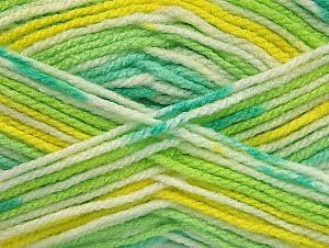Fiber Content 100% Acrylic, Yellow, White, Brand ICE, Green Shades, fnt2-61342