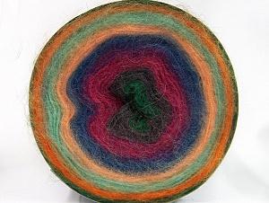 Fiber Content 60% Acrylic, 20% Wool, 20% Angora, Orange, Mint Green, Brand ICE, Green, Fuchsia, Blue, Yarn Thickness 2 Fine  Sport, Baby, fnt2-61385