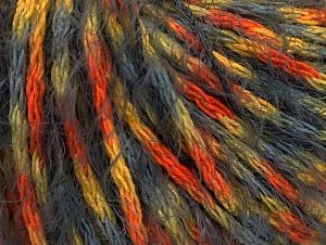 Fiber Content 50% Polyamide, 50% Acrylic, Yellow, Orange, Brand ICE, Grey, fnt2-61759