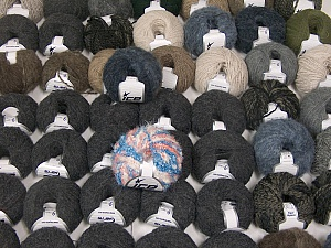Winter Yarns This mixed lot includes a total of 2000 gr (70.5 oz.) yarn. There is no standard for ball weight. Also disregard any information on the labels. You will get what you see in the photo. Brand ICE, fnt2-62179