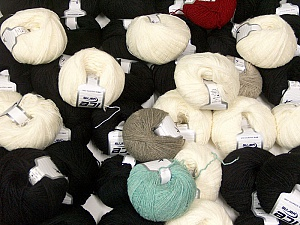 Winter Yarns This mixed lot includes a total of 2000 gr (70.5 oz.) yarn. There is no standard for ball weight. Also disregard any information on the labels. You will get what you see in the photo. Brand ICE, fnt2-62320