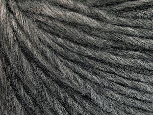 Fiber Content 50% Merino Wool, 25% Acrylic, 25% Alpaca, Brand ICE, Grey Melange, Yarn Thickness 5 Bulky  Chunky, Craft, Rug, fnt2-62356