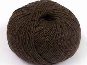 Fiber Content 50% Cotton, 50% Acrylic, Brand ICE, Dark Brown, fnt2-62377