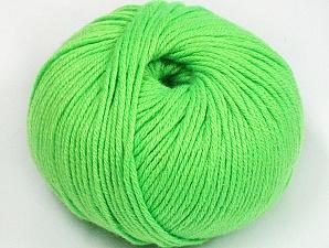 Fiber Content 50% Cotton, 50% Acrylic, Neon Green, Brand ICE, fnt2-62407