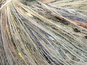 Fiber Content 47% Acrylic, 28% Polyamide, 25% Mohair, Yellow, White, Orange, Brand ICE, Black, fnt2-62501