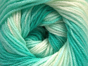 Fiber Content 100% Baby Acrylic, White, Mint Green, Brand ICE, Yarn Thickness 2 Fine  Sport, Baby, fnt2-62538