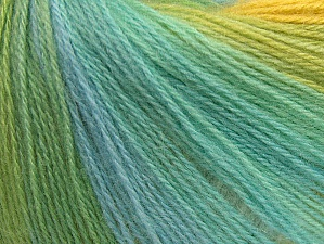 Fiber Content 60% Acrylic, 20% Angora, 20% Wool, Yellow, White, Turquoise, Brand ICE, Green, Yarn Thickness 2 Fine  Sport, Baby, fnt2-62539