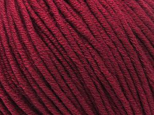 Fiber Content 50% Cotton, 50% Acrylic, Brand ICE, Burgundy, fnt2-62742