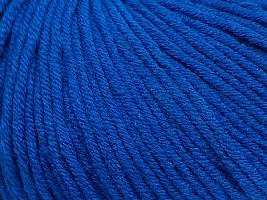 Fiber Content 50% Cotton, 50% Acrylic, Brand ICE, Blue, fnt2-62746