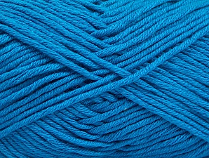 Fiber Content 50% Cotton, 50% Acrylic, Turquoise, Brand ICE, fnt2-62748
