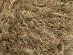 Fiber Content 45% Acrylic, 25% Wool, 20% Mohair, 10% Polyamide, Light Brown, Brand ICE, fnt2-62852