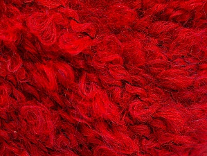 Fiber Content 45% Acrylic, 25% Wool, 20% Mohair, 10% Polyamide, Red, Brand ICE, fnt2-62860