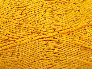 Fiber Content 49% Cotton, 49% Premium Acrylic, 2% Metallic Lurex, Yellow, Brand ICE, fnt2-62888