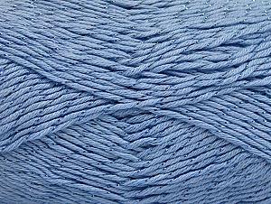 Fiber Content 49% Premium Acrylic, 49% Cotton, 2% Metallic Lurex, Brand ICE, Baby Blue, fnt2-62894