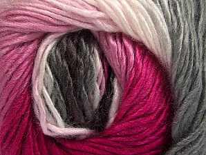 This is a self-striping yarn. Please see package photo for the color combination. Fiber Content 100% Premium Acrylic, Pink Shades, Brand ICE, Grey Shades, fnt2-62905