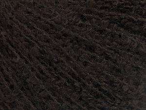 Fiber Content 25% Alpaca, 25% Acrylic, 25% Wool, 25% Polyamide, Brand ICE, Dark Brown, fnt2-62955