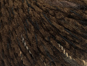 Fiber Content 85% Acrylic, 15% Wool, Brand ICE, Dark Brown, Black, fnt2-62967