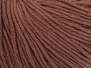 Fiber Content 60% Cotton, 40% Acrylic, Brand ICE, Brown, fnt2-63012
