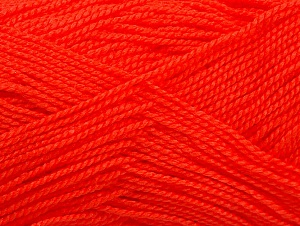 Fiber Content 100% Acrylic, Neon Orange, Brand ICE, Yarn Thickness 1 SuperFine  Sock, Fingering, Baby, fnt2-63092