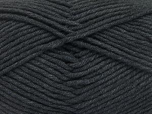 Περιεχόμενο ίνας 55% Βαμβάκι, 45% Ακρυλικό, Brand ICE, Anthracite Black, Yarn Thickness 4 Medium  Worsted, Afghan, Aran, fnt2-63096