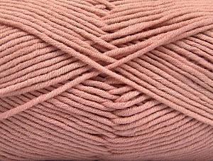 Περιεχόμενο ίνας 55% Βαμβάκι, 45% Ακρυλικό, Powder Pink, Brand ICE, Yarn Thickness 4 Medium  Worsted, Afghan, Aran, fnt2-63102