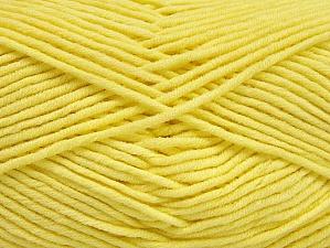 Περιεχόμενο ίνας 55% Βαμβάκι, 45% Ακρυλικό, Light Yellow, Brand ICE, Yarn Thickness 4 Medium  Worsted, Afghan, Aran, fnt2-63104