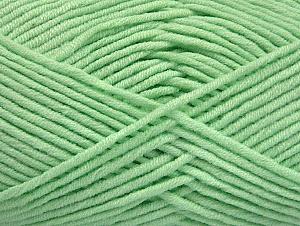 Περιεχόμενο ίνας 55% Βαμβάκι, 45% Ακρυλικό, Mint Green, Brand ICE, Yarn Thickness 4 Medium  Worsted, Afghan, Aran, fnt2-63105
