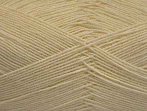 Fiber Content 55% Cotton, 45% Acrylic, Brand ICE, Ecru, Yarn Thickness 1 SuperFine  Sock, Fingering, Baby, fnt2-63108