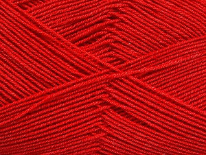 Fiber Content 55% Cotton, 45% Acrylic, Red, Brand ICE, Yarn Thickness 1 SuperFine  Sock, Fingering, Baby, fnt2-63112