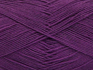 Fiber Content 55% Cotton, 45% Acrylic, Purple, Brand ICE, Yarn Thickness 1 SuperFine  Sock, Fingering, Baby, fnt2-63113