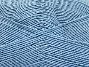 Fiber Content 55% Cotton, 45% Acrylic, Brand ICE, Baby Blue, Yarn Thickness 1 SuperFine  Sock, Fingering, Baby, fnt2-63117