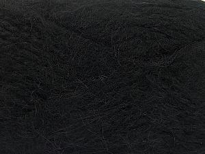 SuperBulky  Fiber Content 70% Acrylic, 30% Angora, Brand ICE, Black, fnt2-63121