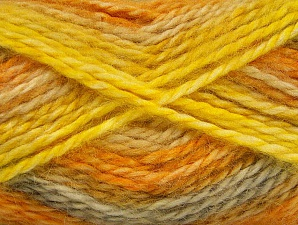 SuperBulky  Fiberinnehåll 70% Akryl, 30% Angora, Yellow, Light Grey, Brand ICE, Gold, fnt2-63143