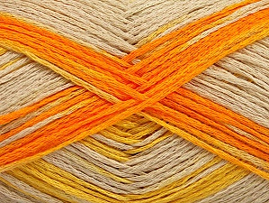 Fiber Content 100% Acrylic, Yellow, Light Beige, Brand ICE, Gold, Yarn Thickness 2 Fine  Sport, Baby, fnt2-63160