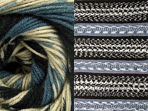 Fiberinnehåll 70% Akryl, 30% Ull, Smoke Blue, Brand ICE, Cream, Black, Yarn Thickness 3 Light  DK, Light, Worsted, fnt2-63203