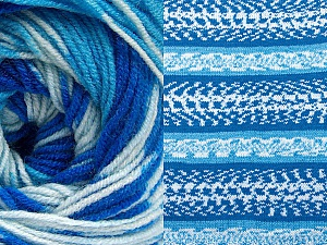 Fiber Content 70% Acrylic, 30% Wool, Brand ICE, Blue Shades, Yarn Thickness 3 Light  DK, Light, Worsted, fnt2-63205