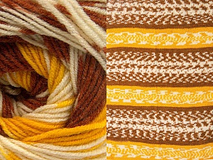 Fiber Content 70% Acrylic, 30% Wool, Yellow, Brand ICE, Cream, Copper, Yarn Thickness 3 Light  DK, Light, Worsted, fnt2-63209