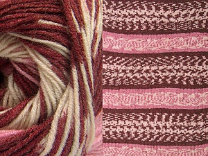 Fiber Content 70% Acrylic, 30% Wool, Pink, Brand ICE, Cream, Burgundy, Yarn Thickness 3 Light  DK, Light, Worsted, fnt2-63213