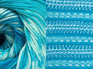 Fiberinnehåll 70% Akryl, 30% Ull, Turquoise Shades, Brand ICE, Yarn Thickness 3 Light  DK, Light, Worsted, fnt2-63215