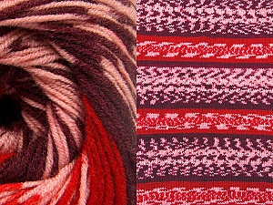 Fiberinnehåll 70% Akryl, 30% Ull, Red, Pink, Maroon, Brand ICE, Yarn Thickness 3 Light  DK, Light, Worsted, fnt2-63216