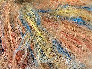 Fiber Content 100% Polyamide, Yellow, Salmon, Brand ICE, Blue, fnt2-63258