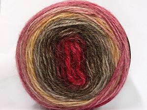 Fiber Content 50% Premium Acrylic, 25% Wool, 25% Alpaca, Pink, Brand ICE, Gold, Burgundy, Brown Shades, fnt2-63269