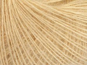 Fiber Content 50% Acrylic, 30% Mohair, 20% Wool, Brand ICE, Dark Cream, Yarn Thickness 2 Fine  Sport, Baby, fnt2-63290