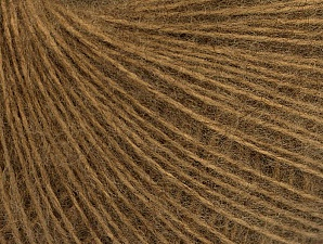 Fiber Content 50% Acrylic, 30% Mohair, 20% Wool, Light Brown, Brand ICE, Yarn Thickness 2 Fine  Sport, Baby, fnt2-63292